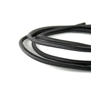 Cavo elettrico tessuto vari colori nero