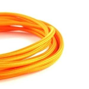 Cavo elettrico tessuto vari colori arancione