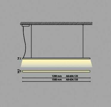 Lampada led sospensione luce diffusa FROY 28 watt