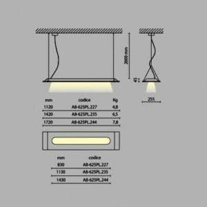 Lampada led sospensione LEVEL 2x27 WATT
