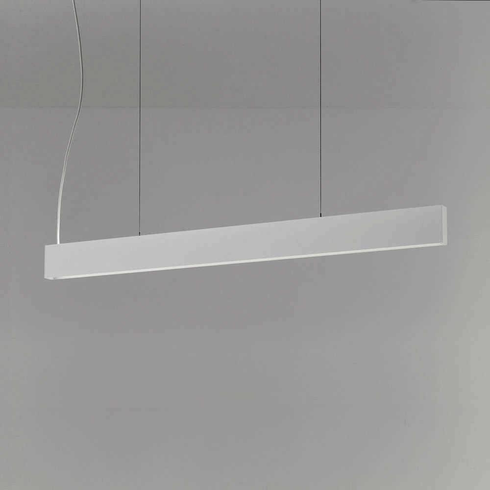 Lampada led sospensione 2x44 watt 3000kelvin bianca for Lampada alogena lineare led