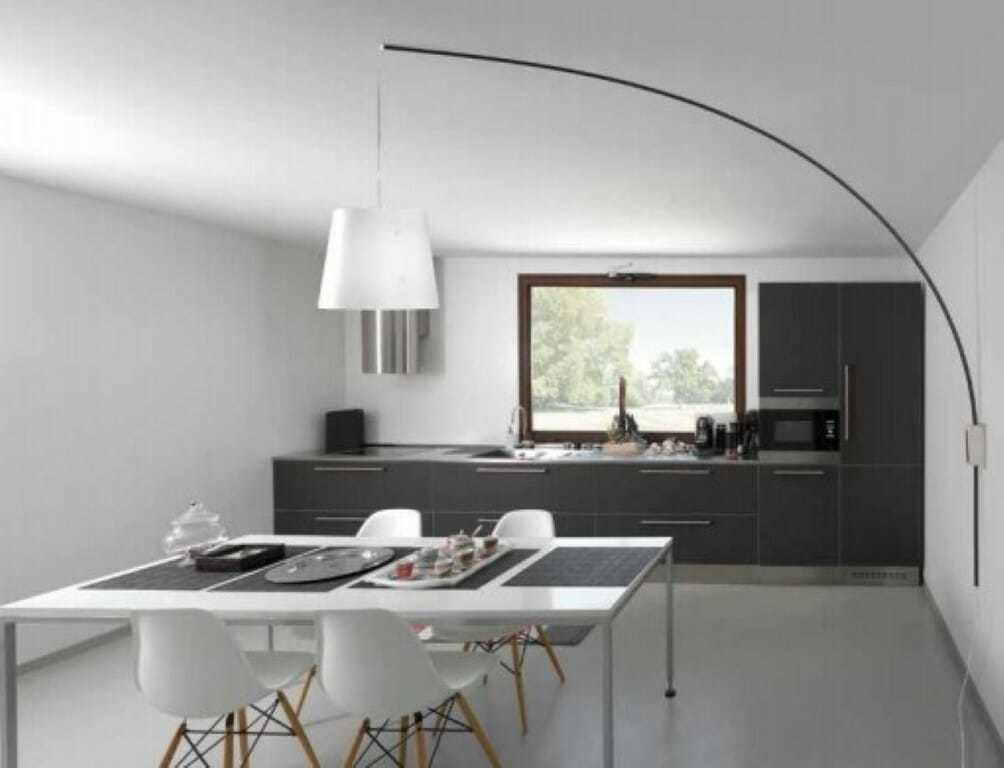 Lampada sospensione moderna parete soffitto cursore nera for Lampada per scrivania moderna