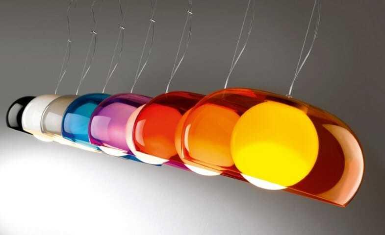 Plafoniere Led A Soffitto Moderno : Lampadario soffitto moderno e colorato balun di metalspot