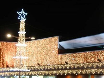 Tenda luminosa led per esterno verticale 256 luci 3x3 mt