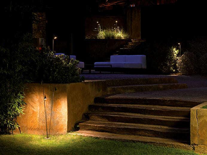 Luci per esterno Vibia illuminazione, splendida originalità.