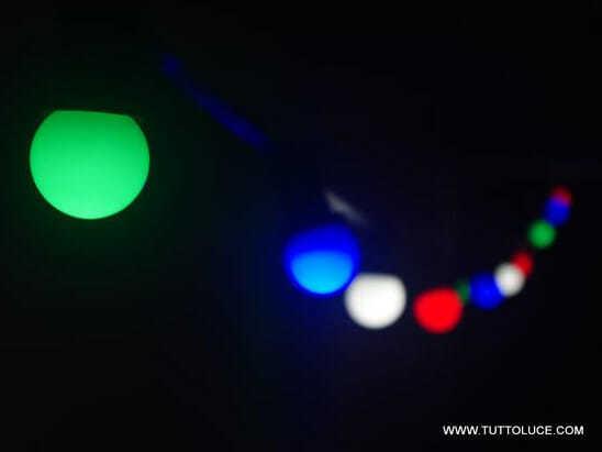 Lampadine led sfera e27 colore in policarbonato per uso in interno