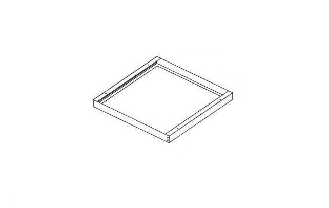 Kit installazione pannello led a plafone soffitto accessorio - tuttoluce. Com