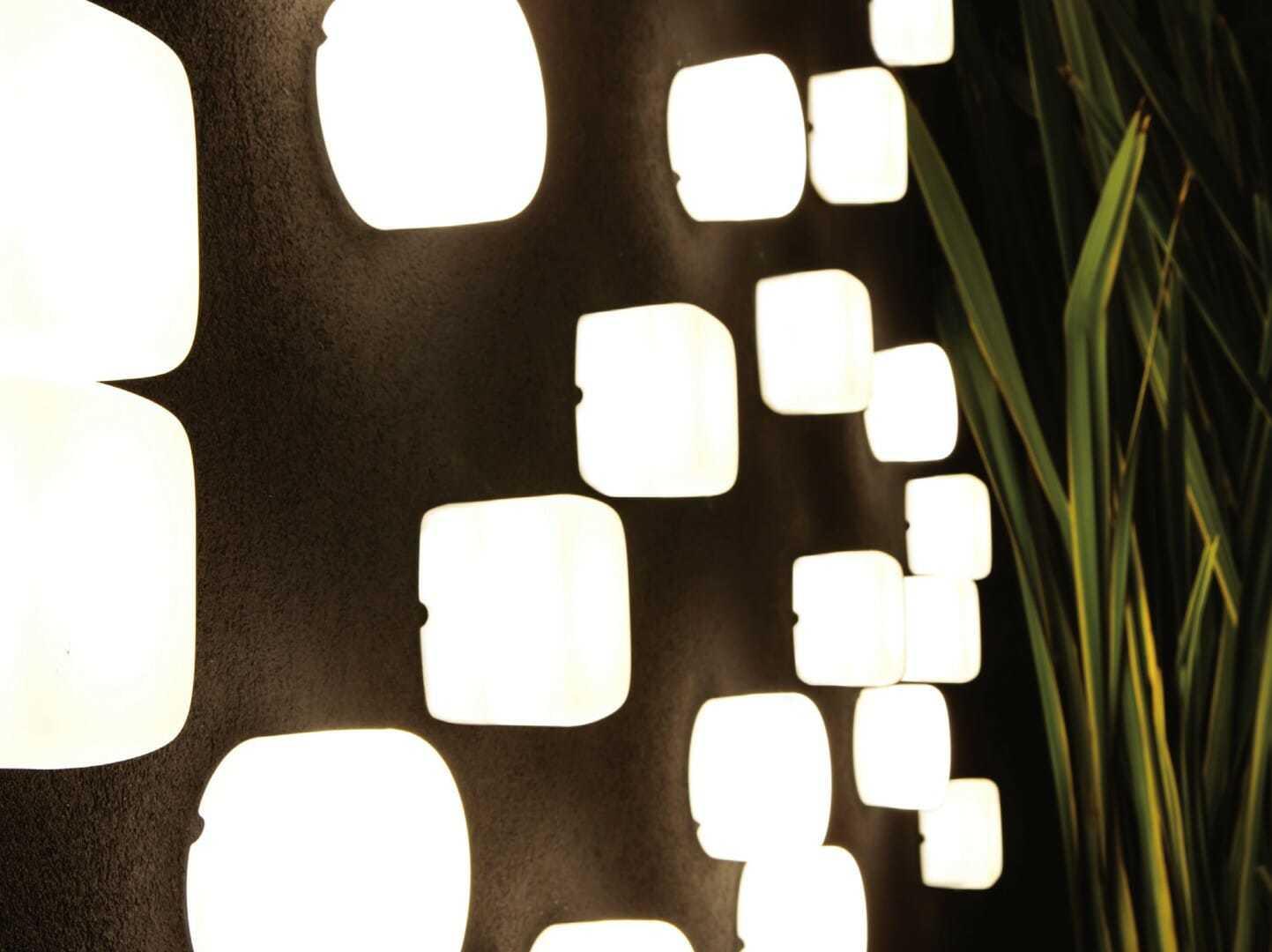 Illuminazione da giardino ip65: crossled: applique da parete led