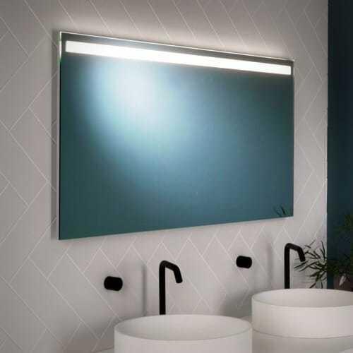 Lampada specchio bagno integrata design moderno - Lampada bagno specchio ...