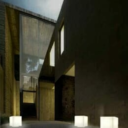 cubo luminoso per esterno