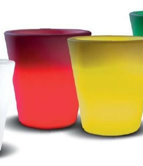 Vaso luminoso est560 happy round rgb ricaricabile