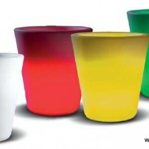 Vaso luminoso est560 happy round rgb ricaricabile