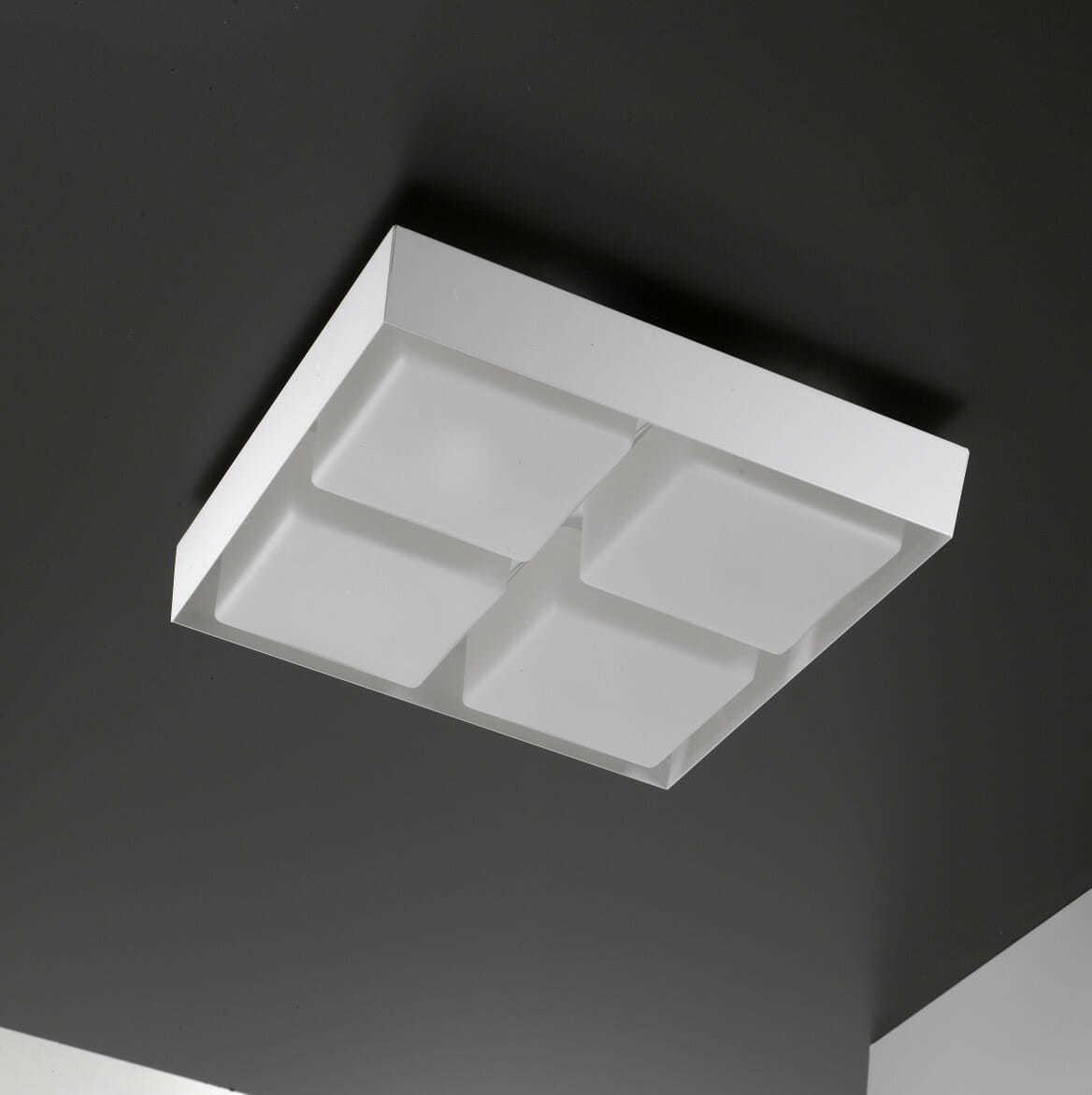 Lampade moderne parete soffitto in vetro soffiato sorgenti for Lampade a led grandi