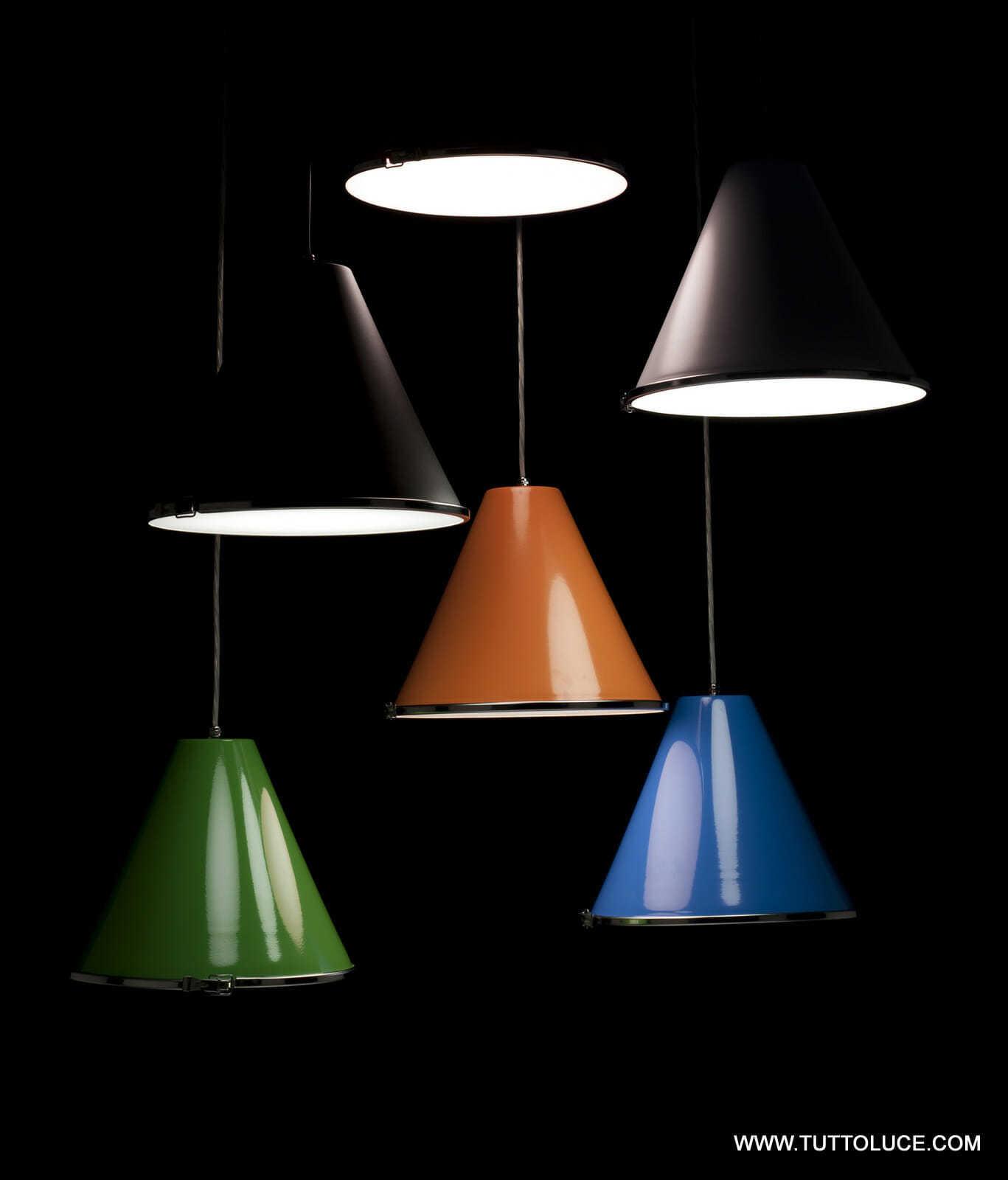 Lampade moderne soffitto in metallo verniciato sorgenti for Lampade a led grandi